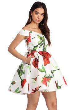 227bd380c955be Briana Ivory Off The Shoulder Taffeta Dress | WindsorCloud Windsor Dresses,  Taffeta Dress, Prom
