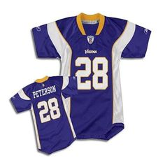 Adrian Peterson Infant Jersey (Home). Click to order! - $19.99