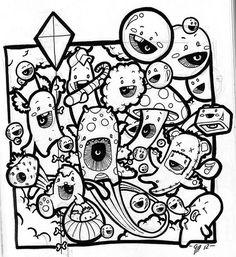 Resultado de imagem para doodle monster