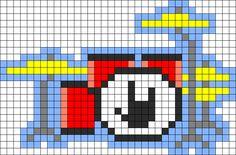 Drum Set Perler Bead Pattern / Bead Sprite