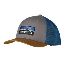 1f83d0c1a9e Patagonia P-6 Logo Trucker Hat- Feather Grey with Bear Brown from Shop  Southern