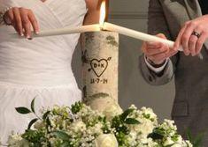 Rustic Unity Candle, Monogram Ceremony Wedding Unity Candle, Personalized Unity Birch Candle Holder Set with Wedding Date Wedding Ceremony Ideas, Christian Wedding Ceremony, Unity Ceremony, Wedding Ceremonies, Wedding Events, Weddings, Wedding Blog, Wedding Stuff, Pond Wedding