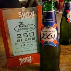1664 beer from france.... 4 us$ at South Beach... Wipiiiiiii, finally i found it