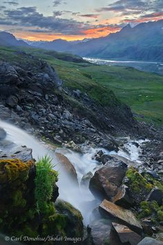 Roane Waterfall, Skolai Pass? Chitistone, Wrangell- St Elias National Park