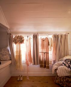 Sweet room with vintage dresses <3