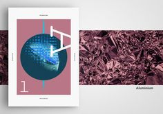 Alphabetical Metal Series// (A-L) on Behance  Graphic poster design