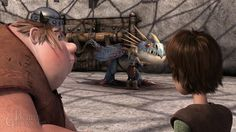 Hiccup eyeing Astrid.