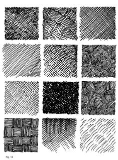 Texture Drawing, Texture Art, Shading Techniques, Art Techniques, Drawing Exercises, Art Worksheets, Ink Pen Drawings, Pen Art, Elements Of Art