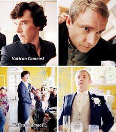 #SPOILERS #Sherlock #Series3 - Vatican cameos
