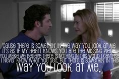 Meredith and Derek...Love how Shonda Rhimes built a sturdy realistic relationship ...two broken people, who find that LOVE does heal!