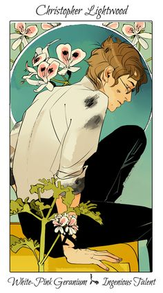 Drawn by Cassandra Jean ... the last hours, flower card, the mysterious tlh, christopher lightwood