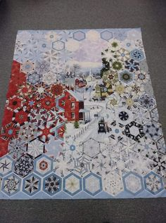 Cute Quilts, Mini Quilts, Panel Quilts, Quilt Blocks, Quilting Projects, Sewing Projects, One Block Wonder, Millefiori Quilts, Snowman Quilt