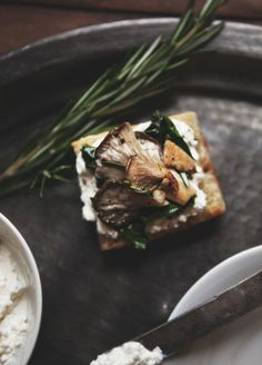 "freepeople: ""Winter Chard + Mushroom Bruschetta """