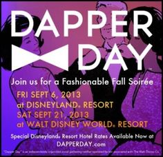 2013 Dates for Dapper Day at Disney