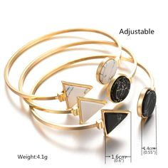 New Women 18K Gold Plated Cuff Bangles 2 Colors Simple Jewelry Fashion Costume Accessories Open Bangle With Stone-in Bangles from Jewelry & Accessories on Aliexpress.com | Alibaba Group