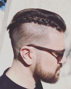 Braid and #Fade #MensHipsterHaircut and #Braid. #Undercut #haircut