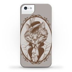 This artistic cat phone case will make you feel like one classy cat lady, with a lovely pencil illustration of a sassy cat in women's victorian fashion, because this is one fancy cat. This cat portrait is perfect for fans of cats, victorian art, victorian fashion, victorian clothes, cat art, cat decor and being a crazy cat lady.