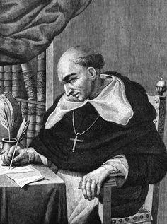 bartolomé de Las Casas - Geboren Sevilla, 24 augustus 1484, gestorven Madrid, 17 juli 1566. Priester die protesteerde tegen de slechte behandeling van de indianen.
