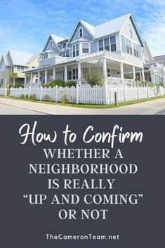 """Buying a home in an """"up and coming"""" neighborhood can increase your equity growth at a higher rate over time. But identifying these types of neighborhoods can be hard. Here are some indicators to look out for. Real Estate Articles, Interior Design Resources, Great Schools, Buying A New Home, House Prices, Public Transport, New Construction, The Neighbourhood, Posts"""