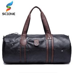 e5555566615d 2017 Hot Men s Large Capacity PU Leather Sports Bag Gym Bag Fitness Sport  Bags Travel Shoulder