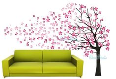 Blowing Cherry Blossom TreeVinyl Wall Decal wall by ChinStudio, $72.00