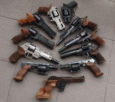 some Chiappa rhinos and Mateba auto-revolvers.