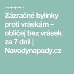 Zázračné bylinky proti vráskám – obličej bez vrásek za 7 dní!   Navodynapady.cz