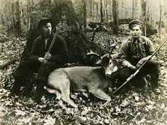 Old Deer Hunting Camp   Giclée Print Deer #04   Old-Timey Sportsmen