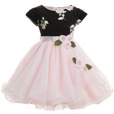 Lesy Black Velvet & Rose Pink Tulle Dress at Childrensalon.com
