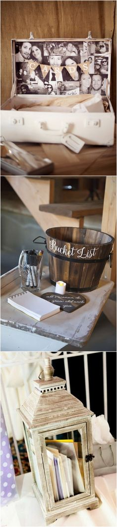 vintage rustic wedding card box ideas
