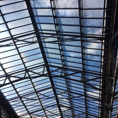 #blueskies #edinburgh #waverley #trainstation #scotland #structure #architecture
