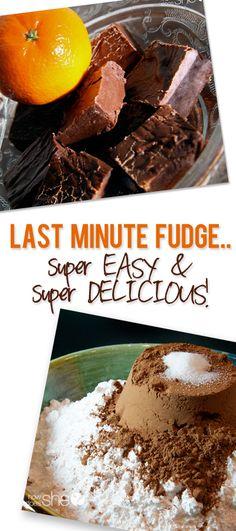Last minute FUDGE..super EASY howdoesshe.com