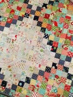 Inspired by this (Carrie Nelson, Miss Rosie's Quilt Company) work of art. The ultimate in scrap quilt beauty.