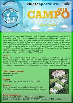 Campo Bambini e Preadolescenti - Area  Centro sud 2015