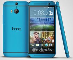 The blue HTC One M8 shows up in new render - Android Authority