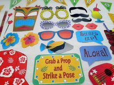 PDF Hawaiian Luau Photo Booth Props PRINTABLE / by chelawilliams