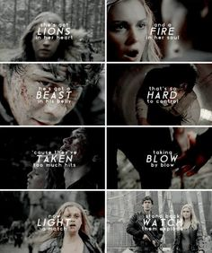 Clarke and Bellamy. I'm really looking forward to the next series!
