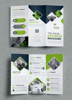 Business Tri-fold Brochure Template INDD Brochure Layout, Brochure Template, Tri Fold, Thankful, Templates, Business, Catalog, Flyer Template, Stencils