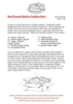 Family Recipes, Family Meals, Best Peanut Butter Cookies, Cookie Recipes, Make It Simple, Recipes For Biscuits, Cook Books, Biscuits, Cookies