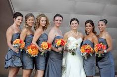 gray and orange wedding colors - Google Search
