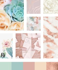 Moodboard and color palette for Desert Blooms Flowers by Fancy Girl Design Studio Custom Web Design, My Design, Logo Design, Brand Guide, Floral Supplies, Colour Inspiration, Cacti And Succulents, Love Flowers, Service Design
