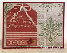 Painted Mountain Cards: Reindeer Tag Book Pop-Up Card