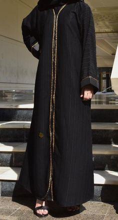 عباية مقلم مع خطوط باللون الذهبي يوجد لدينا منها عدة مقاسات متوفرة ومناسبة للجميع المقاسات 52و54 و56 و58 و60 Hijab Fashion Inspiration, Style Inspiration, Daily Fashion, Fashion Tips, Womens Fashion, Outfits, Dresses, Fashion Hacks, Vestidos