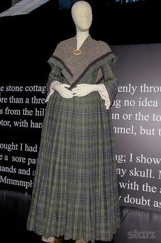 Claire, 18th Century Tartan Dress, Ep 104 & 105 | Caitriona Balfe | Outlander Starz/ Amazon Prime UK