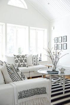 Simple black and white decor