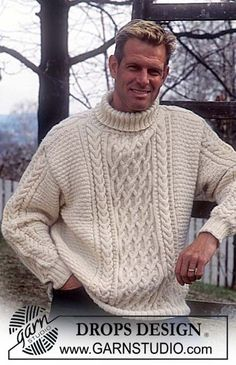 Hand knitted unisex jumper sweater aran style cable for men or women - ladies cable knit jumper - men's Aran sweater - knit jumper Cable Knit Jumper Mens, Men Sweater, Aran Jumper, Cable Knitting Patterns, Free Knitting, Crochet Patterns, Aran Sweaters, Knitting Sweaters, Mens Jumpers