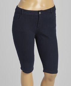Dark Blue Bermuda Denim Shorts - Plus by 1826 Jeans #zulily #zulilyfinds