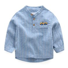 Spring Boys Kids Long Sleeve Pattern Casual Shirts Tops For is cheap, come to NewChic and buy the best kids tops & T-shirt now! Baby Boy Dress, Kids Tops, Boys Wear, Boys Shirts, Boy Outfits, Casual Shirts, Long Sleeve Tops, Fashion Kids, Toddler Fashion