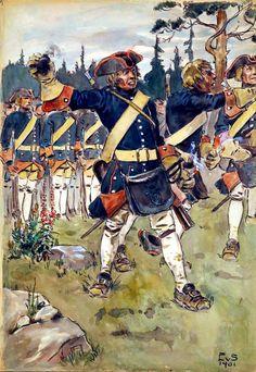 Grenadiers of the indelta line infantry- by Einar von Strokirch