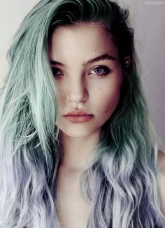 sea foam and sky blue hair